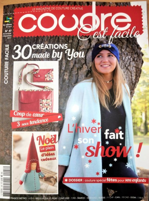 Coudre c facile n°47 nov /dec2017 occasion