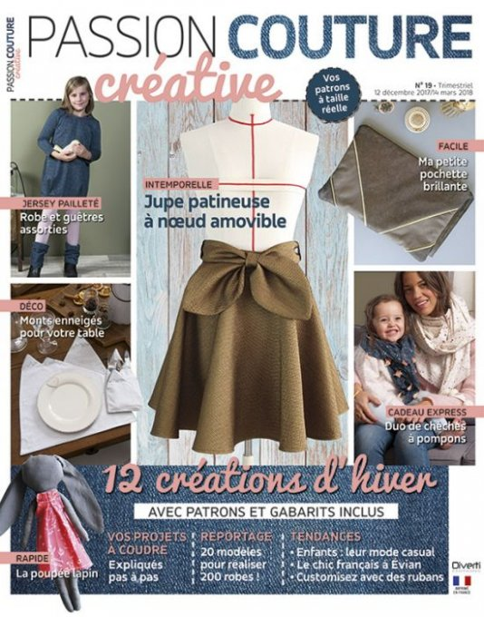 Passion couture créative n°19 dec2017/ mars2018 (occasion)